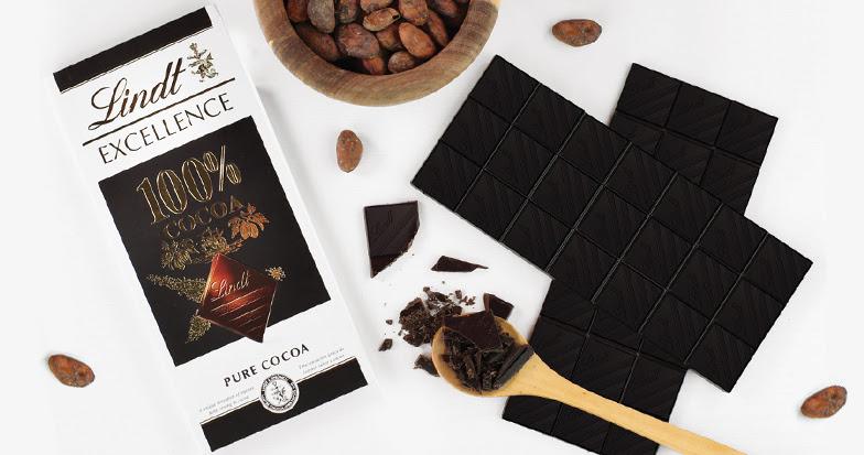 Lindt lança EXCELLENCE 100% pure cocoa, com o mais purocacau